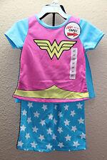 *NEW Komar Kids Wonder Women Girls 3PC Pajama Set with Cape size 6X Blue Multi