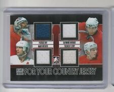 2014 ITG Decades 90's For your Country Canada Quad Jersey Messier Roy Bourque
