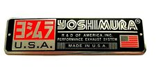 YOSHIMURA USA 3D HEATPROOF EXHAUST BADGE STICKER GRAPHIC DECAL METAL SUPERBIKE
