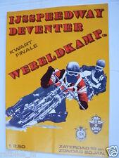 1980  WK ICESPEEDWAY KWARTFINALE DEVENTER 19/20 JANUARI 1980 PROGRAMME PJ58