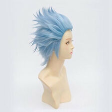 Fashion Party Cosplay WigAnime Rick And Morty Hair Short Sky Blue Wig Cap