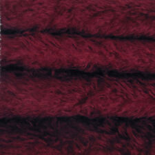 "1/4 yd 325S/C Cranberry INTERCAL 5/8"" Semi-Sparse Curly German Mohair Fur Fabric"