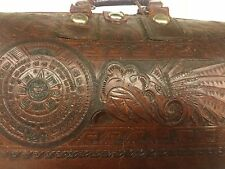 Doctors bag - Mens Top-handle bag Quality  brown leather Mexican Indian Motif