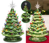 LARGE CHRISTMAS CACTUS GLOSSY GREEN GLAZED READY 2 LIGHT CERAMIC SHINY WWC #203