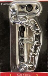 Safety Barrel Bolt Chain Guard Door Lock Latch #3698