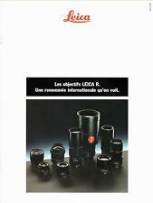 Les OBJECTIFS LEICA R _ Toutes les optiques Leica R disponibles en 1989