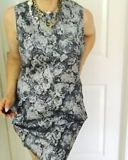 ASOS DENIM WOMENS DRESS FLORAL PRINT ZIP BACK STRETCH KNEE LENGHT SZ 18