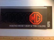 1976 MGB / MG Midget Body & Color Trim Colors