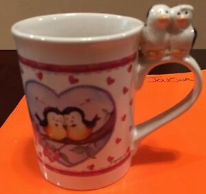 Love Birds Theme  Betallic 1998 Wilma Sanchez Coffee Mug/Cup Next Day Ship