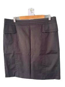 JACQUI-E Black Skirt  Size 16 Fully Lined Business Work Casual NWOT