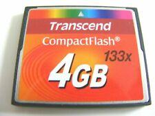 4GB Compact Flash Card ( 4 GB CF Speicherkarte ) TRANSCEND gebraucht