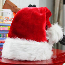 Plush Red and White Santa Claus Caps Santa's Hat for Christmas Party Costume new