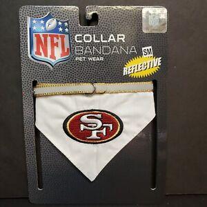 "NFL Official Pet Wear San Francisco 49ers Bandana Dog Collar S, 8"" - 12"" Neck"