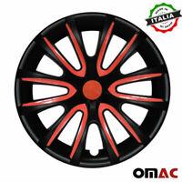 "16"" Wheel Rim Cover Hubcap Matte Black Red For Nissan Sentra 4pcs Set"