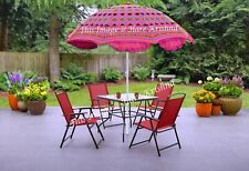 2e0f585d2cdd6 Pink Indian Cotton Sun Umbrella Patio Beach Party Outdoor Garden Parasol  90x70