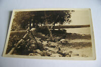 Rare Vintage RPPC Real Photo Postcard B1 Norway Maine 1926 Postmarked Lake Trees