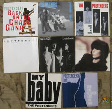 LOT of 8 PRETENDERS 45rpm Picture Sleeves (only)