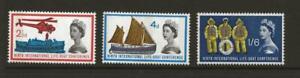 GB 1963 SG639p-41p Lifeboat PHOSPHOR Set Fine MINT Cat £48