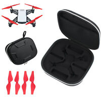 Propellers + Handheld PU Leather Carrying Bag Box Waterproof For DJI Tello Drone