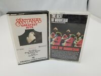 Rock Cassette Tapes Set of 2 Best of Mountain & Santana's Greatest Hits
