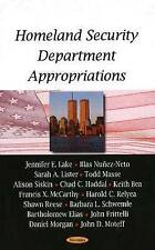 Homeland Security Department Appropriations - New Book