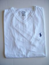 Polo Ralph Lauren Men's T-shirt Short Sleeve White V-neck 100 Cotton M