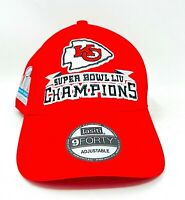 Brand New Kansas City Chiefs Super Bowl LV 9Forty Adjustable Football Hat Red
