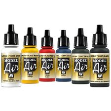 Vallejo Airbrush Farben Set 6x 17ml *Basis Airbrushfarben Acrylfarben