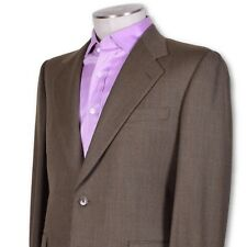 NEW NWT Belvest Brown/Green Faint Check Two-Button Dual Vent Wool Suit 40 40r