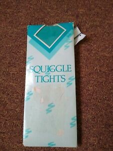 Vintage Green Squiggle Patterned Tights