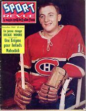 1960 (Nov.) Sport Revue, Hockey magazine, Dickie Moore, Montreal Canadiens ~ Fr