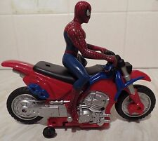 """Marvel Spiderman Bump & Go Cycle, working light, racing sound & 5"""" Action Figure"""