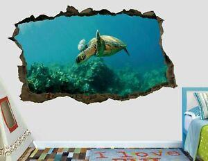 Animal Hawksbill Sea Turtle Custom Wall Decals 3D Wall Stickers Art AH555