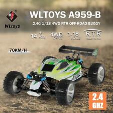 WLtoys A959-B 2.4G 1/18 Scale 4WD 70KM/h Electric RTR Off-road Buggy RC Car Z0S9