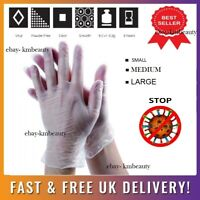 Clear Vinyl Gloves Powder & Latex Free Cleaning Protective - CHOOSE