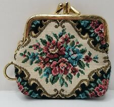 Vintage Petit Point or Tapestry Coin Purse
