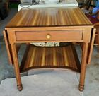 Table with drop leaves, mixed woods, Alexa Hampton Collection, for Hickory Chair