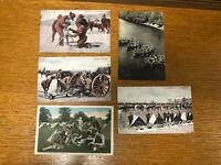 Vintage World War I WWI Postcards - Lot of 5 - Unused - Not Posted