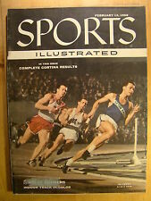 Sports Illustrated Magazine February 13 1956 Cortina Results Relay Runners