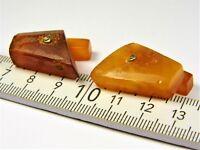 Natural genuine Baltic Amber gemstone old vintage cuff-links men's jewelry 2007