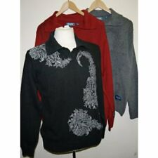 LADIES WARM V-COLLARED MAINE NEW ENGLAND BLACK GREY RED JUMPER SIZE S,M,L,XL