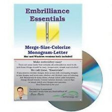 Embrillance Essentials Embroidery Machine Software Merge Size Colorize Monogram