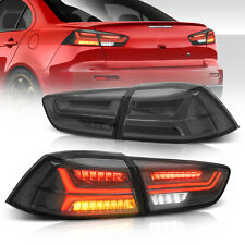 2x Smoked Led Tail Lights Rear Lamps For 08 17 Mitsubishi Lancer Evo Lhrh Side