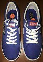 *New* Polo Ralph Lauren Geoff Shoes Royal Blue / White Mens Size 7 #RFS10841