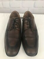 ECCO Shock Point Men's Brown Leather Oxford Dress Lace Up Shoes Size EU 46 US 12