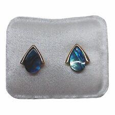 Paua Jewelry - Gold Plated Stud Earrings (PE207)