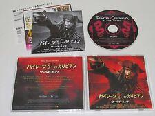 HANS ZIMMER/PIRATES OF THE CARIBBEAN(WALT DISNEY AWCW-12585) JAPAN CD ALBUM+OBI