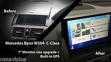 "Mercedes Benz W204 C-Class 2007 - 2010 7"" Touch GPS Screen NTG Audio Upgrade"