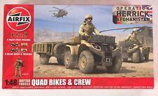 Airfix 1/48 British Forces Quad Bikes & Crew Figures Model Kit