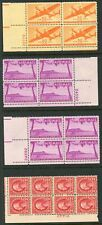 SMALL PLATE BLOCK LOT - AIRMAIL + EARLIES MINT  CV $116